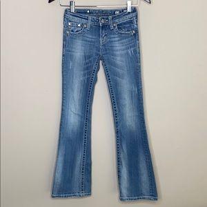 Miss Me Girls Pants Size 12 boot Cut Light Wash